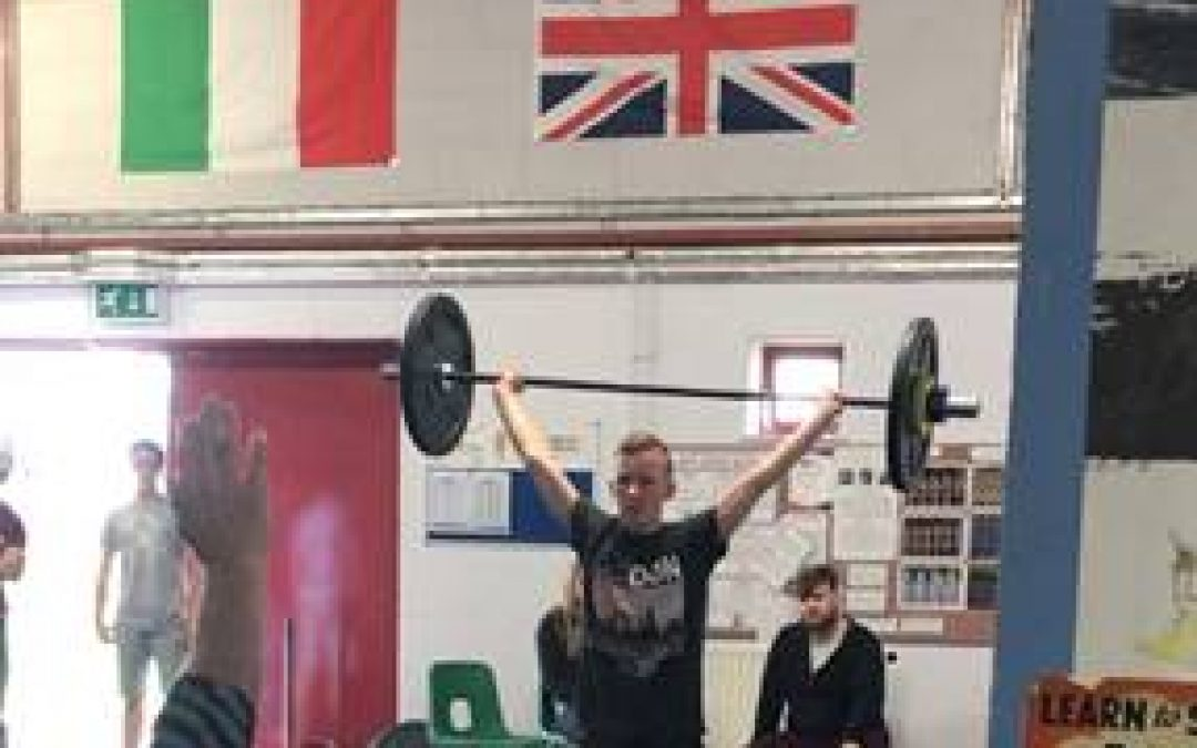 Weight Lifting Success for Rhys Hall