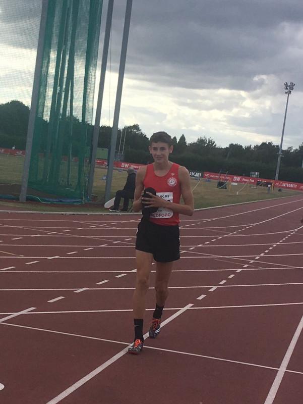Jamie Kier Kent & Kent Schools' 1500m champion.