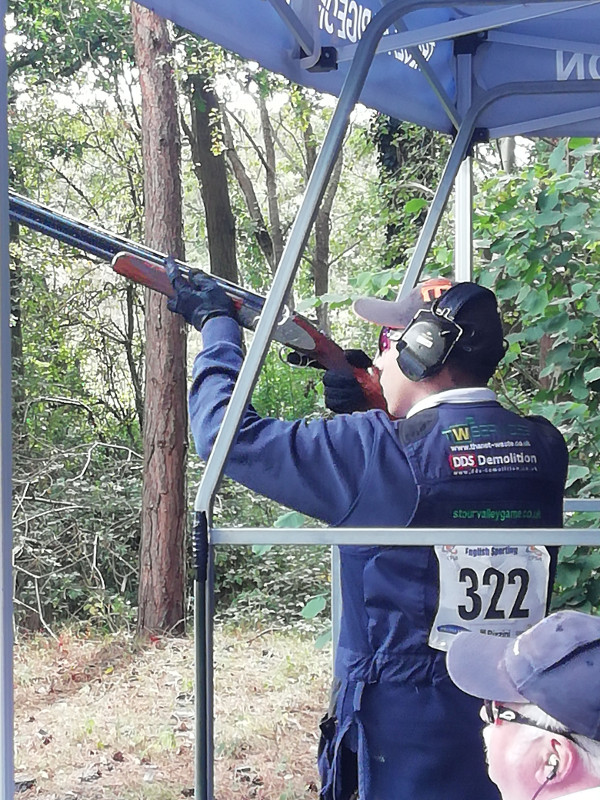 Dan King Competes in British Open Shooting Competition