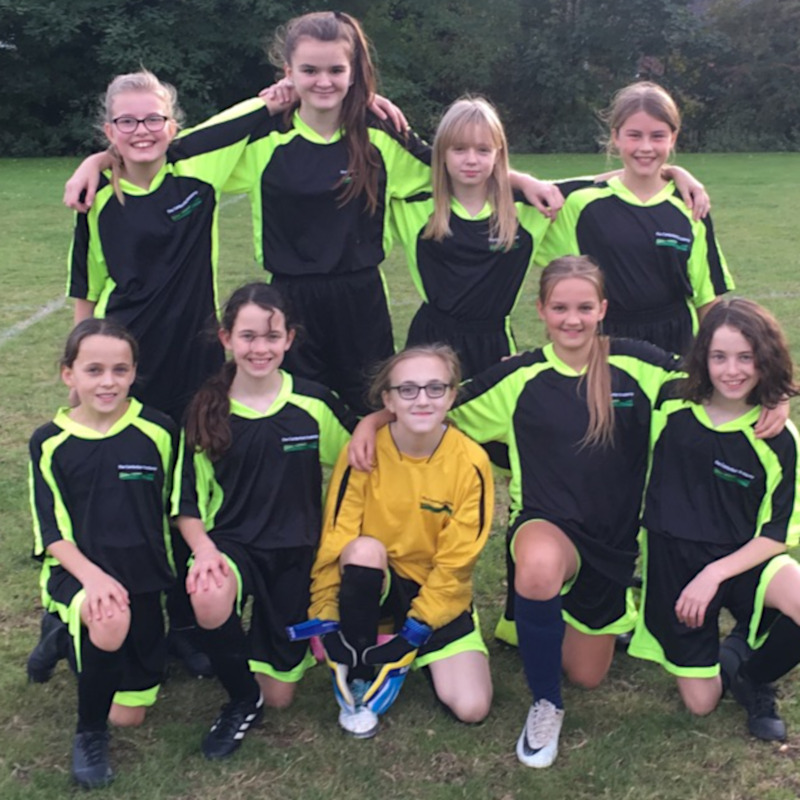 Year 7 girls Football team October 2019