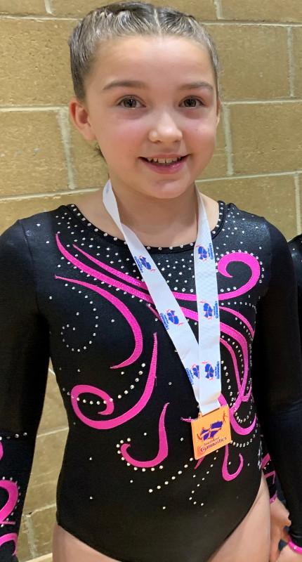 Josie Cooper Gymnastics gold