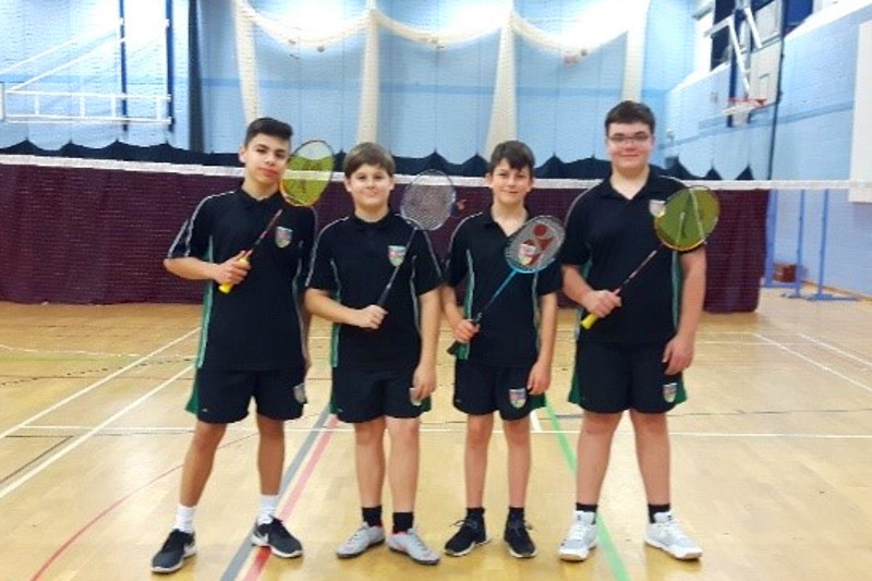 The Canterbury Academy KS3 Badminton team December 2019
