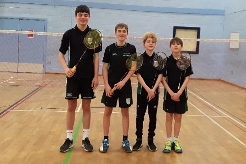 The Canterbury Academy KS4 Badminton Team December 2019