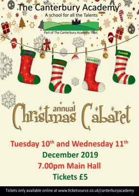 Christmas Cabaret 10 and 11 December 2019