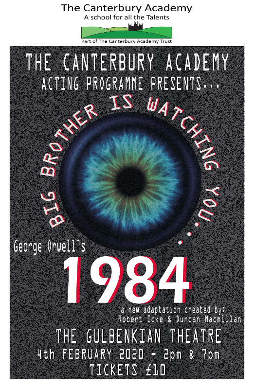 Geogre Orwell's 1984 at Gulbekian Theatre 04.02.20