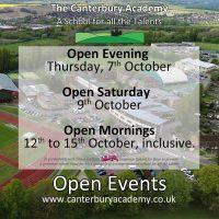 open events ocober 2021