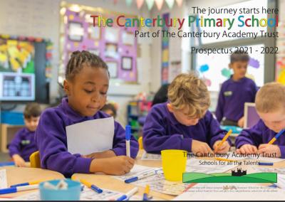 The Canterbury Primary School Prospectus 2021-22 front cover