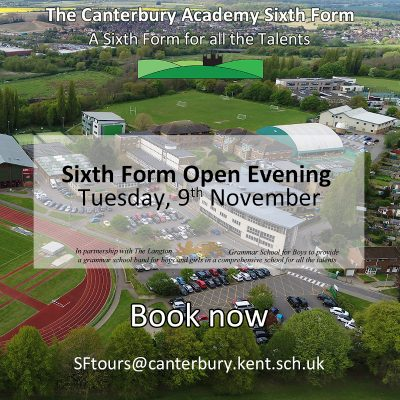 Sixth Form Open Evening 2021 - book now