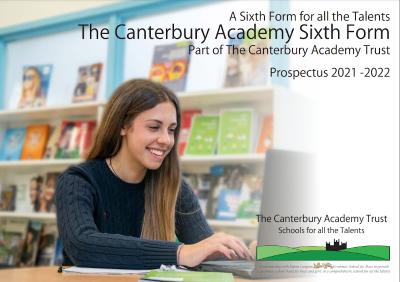 Sixth Form Prospectus 2021-22 cover